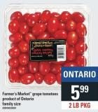 Farmer's Market Grape Tomatoes - 2 Lb Pkg