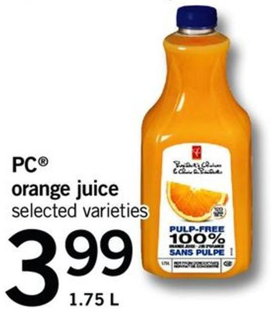 PC Orange Juice - 1.75 L