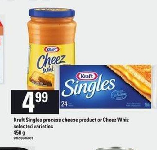 Kraft Singles Process Cheese Product Or Cheez Whiz - 450 G