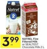 Natrel Fine Filtered Milk or Sealtest Chocolate Milk 2 L
