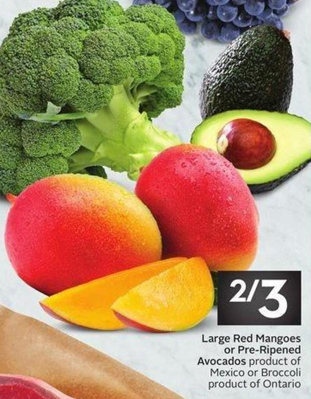 Large Red Mangoes or Pre-ripened Avocados