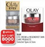 Olay Eye Cream or Regenerist Skin Care Products