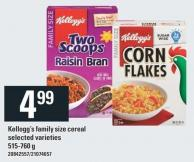 Kellogg's Family Size Cereal - 515-760 G
