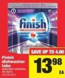 Finish Dishwasher Tabs - 45-60's