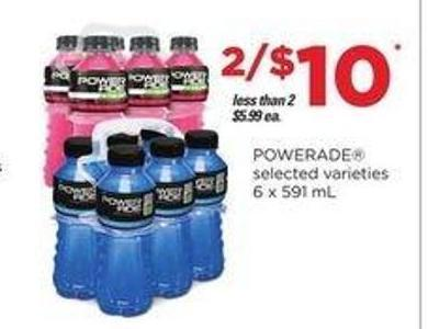 Powerade - 6 X 591 mL