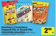 Hershey's Crunchers - Popped Mix or Snack Mix Chocolate Pouches - 160-170 g