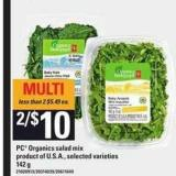 PC Organics Salad Mix - 142 g