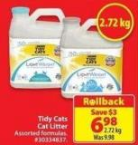 Tidy Cats Cat Litter 2.72 Kg