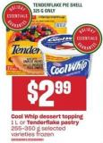 Cool Whip Dessert Topping 1 L Or Tenderflake Pastry 255-350 G
