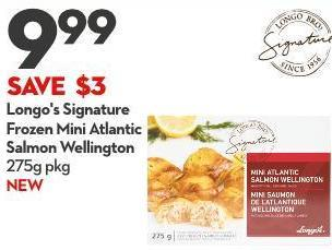 Longo's Signature Frozen Mini Atlantic Salmon Wellington  275g Pkg New
