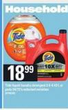 Tide Liquid Laundry Detergent .3.4-4.43 L Or PODS - 54/72's