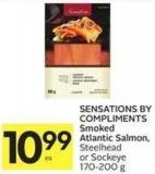 Sensations By Compliments Smoked Atlantic Salmon - Steelhead or Sockeye 170-200 g
