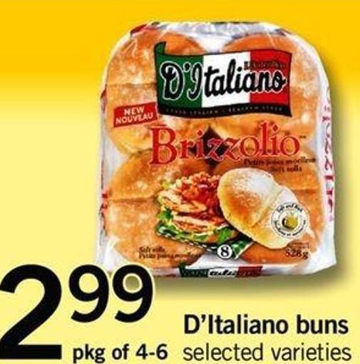 D'italiano Buns - Pkg Of 4-6