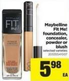 Maybelline Fit Me Foundation - Concealer - Powder Or Blush