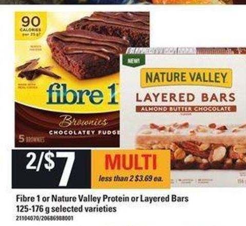 Fibre 1 Or Nature Valley Protein Or Layered Bars - 125-176 g