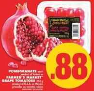 Pomegranate Each Product of Turkey or Farmer's Market Grape Tomatoes - 255 g