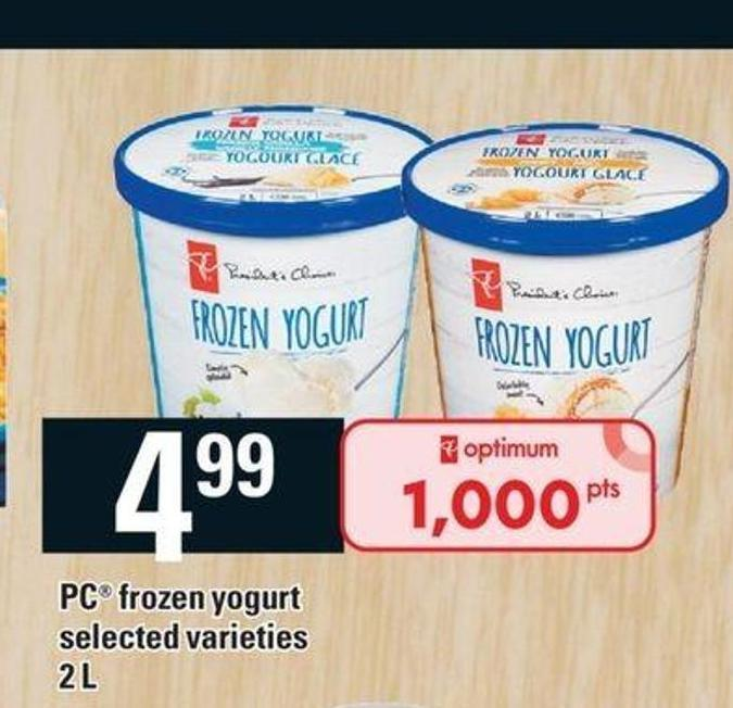 PC Frozen Yogurt - 2 L