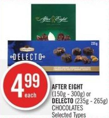 After Eight (150g - 300g) or Delecto (235g - 265g) Chocolates