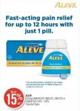 Aleve 220mg Pain Relief Tablets - Caplets or Liquid Gels 40's - 200's