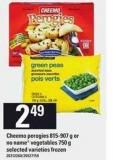Cheemo Perogies - 815-907 G Or No Name Vegetables - 750 G