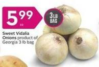Sweet Vidalia Onions Product of Georgia 3 Lb Bag