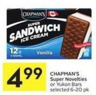 Chapman's Super Novelties or Yukon Bars Selected 6-20 Pk