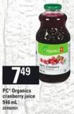 PC Organics Cranberry Juice.sc 946 Ml