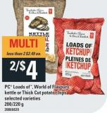 PC Loads Of - World Of Flavours - Kettle Or Thick Cut Potato Chips - 200/220 G