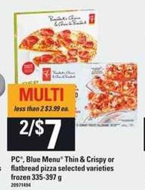 PC - Blue Menu Thin & Crispy Or Flatbread Pizza - 335-397 g