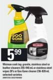 Weiman Cook Top - Granite - Stainless Steel Or Leather Cleaners - 355-946 Ml Or Stainless Steel Wipes - 30's Or Goo Gone Cleaner - 236-828 Ml