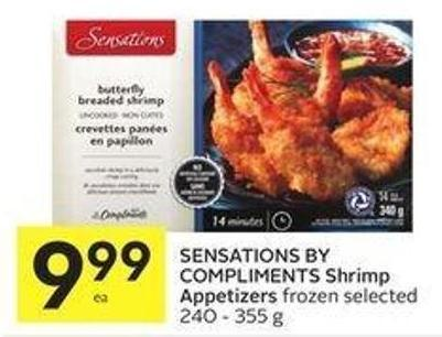 Sensations By Compliments Shrimp Appetizers