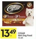 Cesar Wet Dog Food 12 Pk