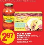 Old El Paso Dinner Kits - 250-510 g Or Salsa - 650 mL