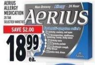 Aerius Allergy Medication 20 Tab