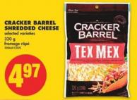 Cracker Barrel Shredded Cheese - 320 g