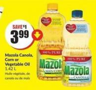 Mazola Canola - Corn or Vegetable Oil 1.42 L