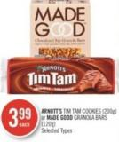Arnott's Tim Tam Cookies (200g) or Made Good Granola Bars (120g)