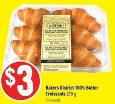 Bakers District 100% Butter Croissants 270 g