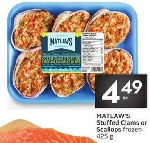 Matlaw's Stuffed Clams or Scallops
