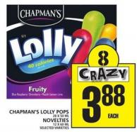 Chapman's Lolly Pops Or Novelties