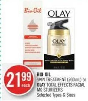 Bio-oil Skin Treatment (200ml) or Olay Total Effects Facial Moisturizers