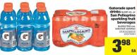 Gatorade Sport Drinks - 6x591 Ml Or San Pellegrino Sparkling Fruit Beverages - 6x250/330 Ml
