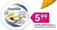 Compliments Brie or Camembert