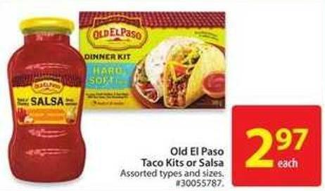 Old El Paso Taco Kits or Salsa