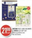 Aveeno Face Care Regimen or Nivea Q10 Gift Set