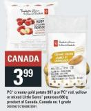 PC Creamy Gold Potato 907 G Or PC Red - Yellow Or Mixed Little Gems Potatoes 680 G