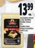 Irresistibles Artisan 2 Year Old White Cheddar Cheese