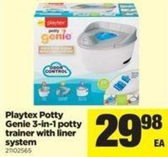 Playtex Potty Genie 3-in-1 Potty Trainer With Liner System