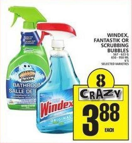 Windex - Fantastik Or Scrubbing Bubbles