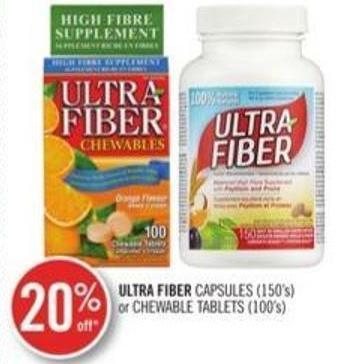 Ultra Fiber Capsules (150's) or Chewable Tablets (100's)